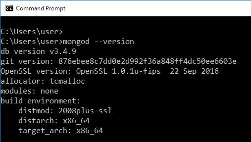 Check MongoDB Version in Windows / Linux