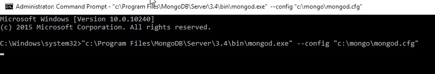 start mongodb on windows