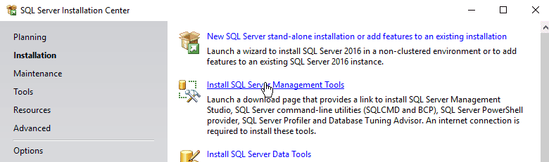 How to Install SQL Server Management Studio for MS SQL Server 2016
