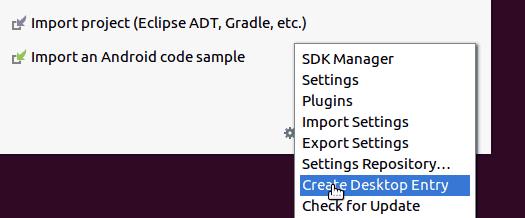 Desktop Entry for Ubuntu Android Studio