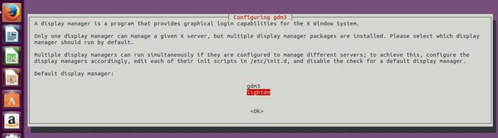 lightdm ubuntu gnome 3 default display manager