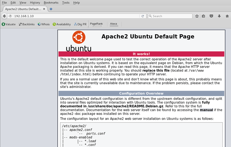 Install and Configure Apache2 on Ubuntu Server 16.04