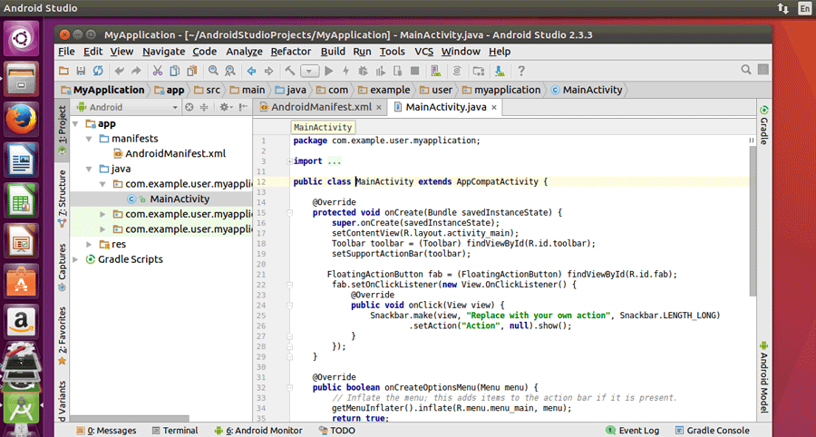 Install Android Studio in Ubuntu