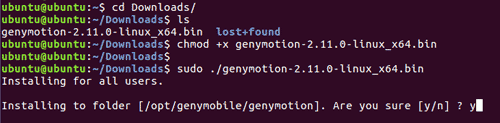 install genymotion on ubuntu