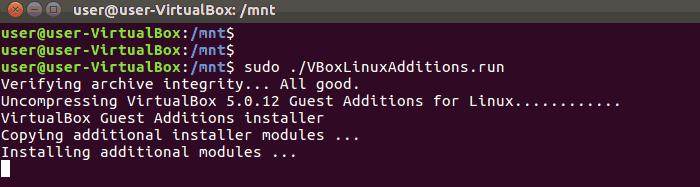 Install VirtualBox Guest Additions Ubuntu 16.04