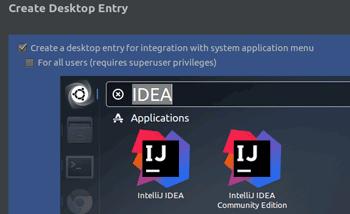 create a desktop entry for the Ubuntu IntelliJ IDE