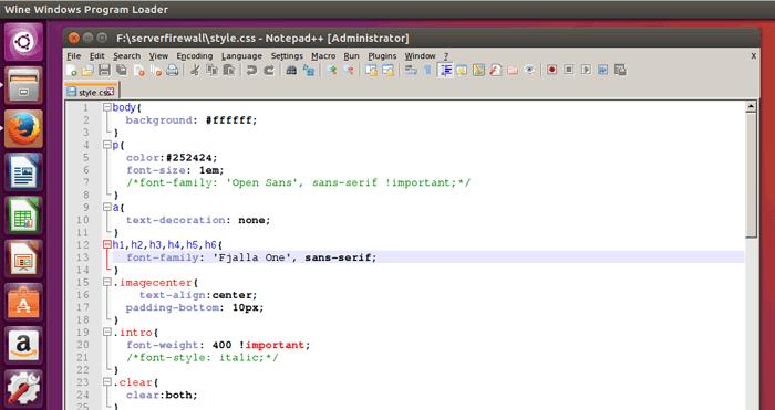 install Notepad++ on Ubuntu 16.04 Desktop