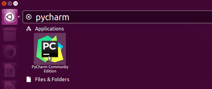 Start Pycharm Python IDE From Ubuntu Software Menu