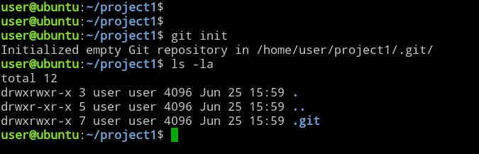 Creating a new git repository on Ubuntu