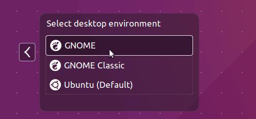 Ubuntu Gnome Desktop Login Screen