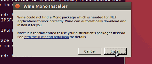 configure wine using winecfg command