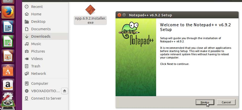 ubuntu notepad ++ installer