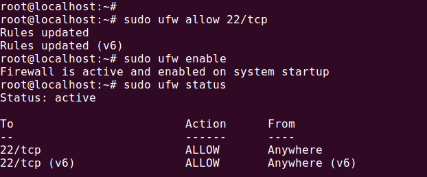 Enable and Disable UFW Ubuntu Firewall