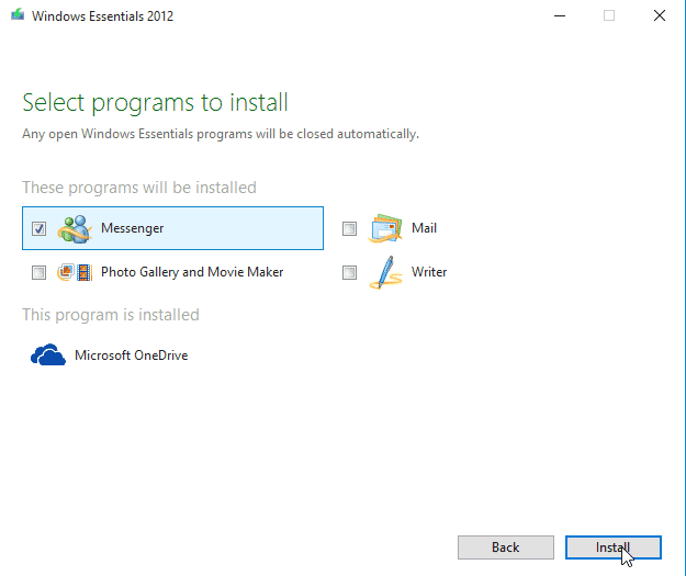 Install Windows Live Messenger on Windows 10