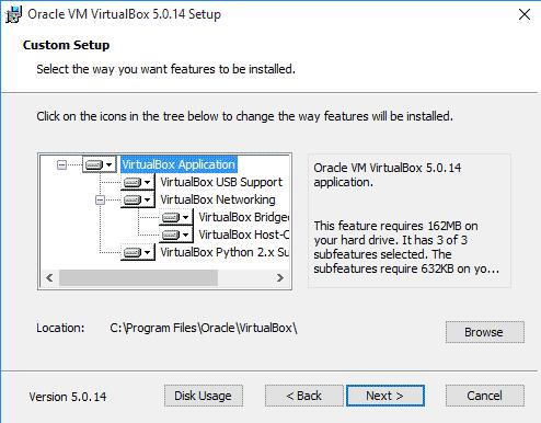 Virtualbox Custom Setup Windows 10