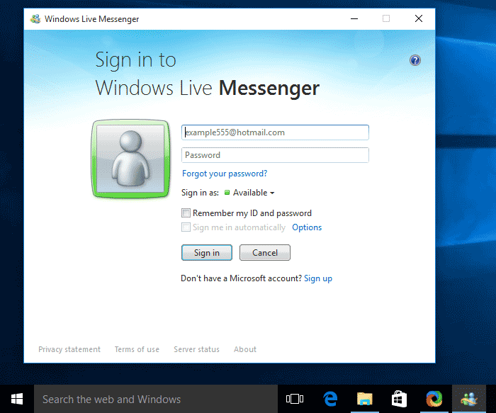 Windows Messenger Running on Windows 10